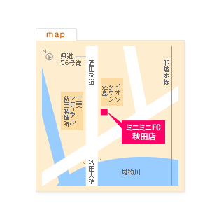 FC秋田店の地図