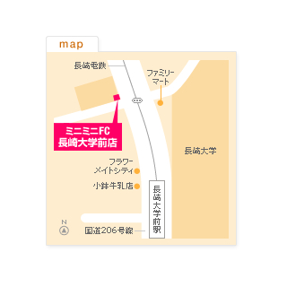FC長崎大学前店の地図