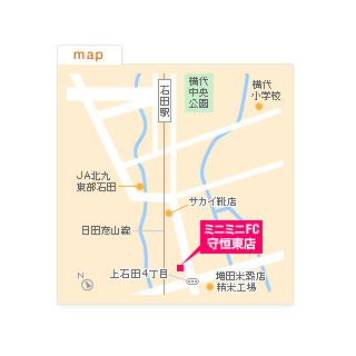 FC守恒東店の地図