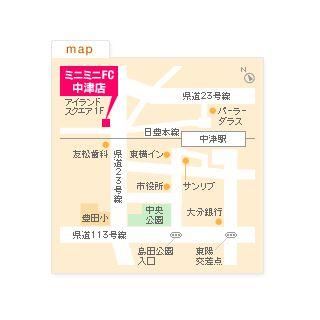 FC中津店の地図