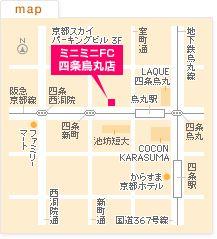FC四条烏丸店の地図