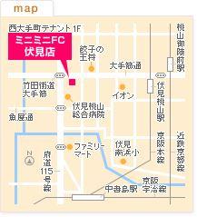 FC伏見店の地図