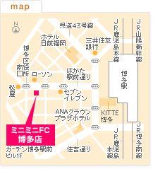 FC博多店の地図