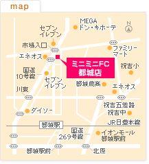 FC都城店の地図